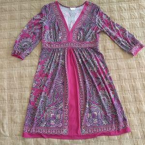 London Times V-Neck Dress